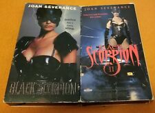 Black Scorpion 1 & 2 VHS OOP New Horizons Home Video Joan Severance Roger Corman