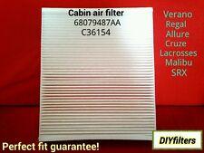 C38224 New Cabin Air Filter For Chevy Traverse Equinox 18-20 Colorado 15-20
