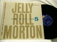 JELLY ROLL MORTON Library of Congress Vol 5 Georgia Skin Game Riverside dg LP