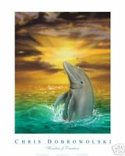 "NEW! Dolphin III 18x24"" Art Print Poster by Dobrowolski"