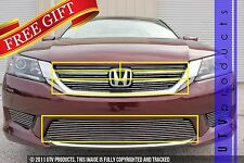 GTG 2013 - 2015 Honda Accord 4dr 6PC Polished Insert Combo Billet Grille Kit