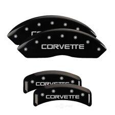MGP 4 Caliper Covers Engraved F & R C4/Corvette Black Finish Silver Char for 198