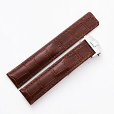 22mm Brown Watch Band Strap Tag Heuer Carrera Calibre 11 12 16 Day-Date Monaco