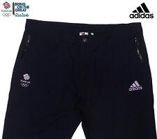 """Adidas Team GB Rio 2016 Elite atleta Azul Algodón Tela De Algodón Pantalones Pantalones Tamaño 36"""""""
