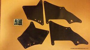 Set of 4 Splash Seals W/Clips for Lexus GX470 & GX460 Liners Aprons Shields G