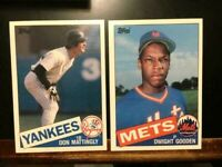 Don Mattingly Large Sized 1985 Topps Baseball Card W/DWIGHT GOODEN RC-NM-MT
