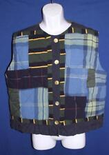 Ladies Quail Run Quilted Vest, Blue & Green Patchwork, Size Large