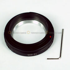 T2-EOS T mount Lens to Canon EF EF-S Adapter Ring 80D 760D 750D Rebel T6i T5i T5