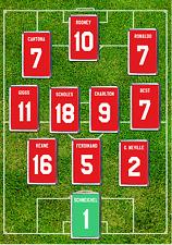 Manchester United inspirado Camiseta de fútbol FRIDGE Magnet Set cualquier nombre y número