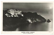 Imperial Hotel, Torquay Lit By Floodlighting RP PPC, Unposted, by Wilson Gould