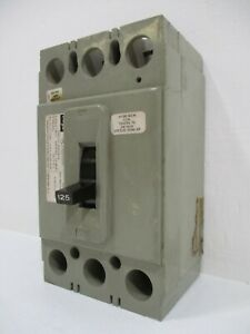 FPE Federal Pacific Type HEJ 125 Amp 240V 3-Pole Circuit Breaker 125A