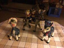 Mixed Lot Donkey Figurines