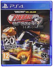 Pinball Arcade: Season 2 [PlayStation 4 PS4, Region Free, 20 New Tables] NEW