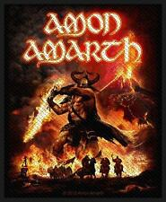 OFFICIAL LICENSED - AMON AMARTH - SURTUR RISING WOVEN SEW-ON PATCH METAL VIKING