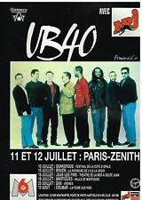 Publicité Advertising 1994 Concert UB 40 Paris-Zenith