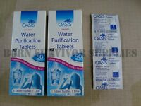 OASIS WATER PURIFICATION TABLETS 17mg - 100 Pack British Army NATO Issue Travel