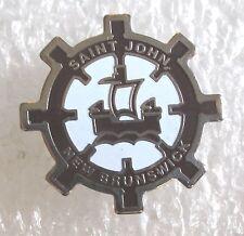 Saint John, New Brunswick, Canada Travel Souvenir Collector Pin - Sailboat