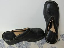 Womens BORN Black Leather Mule Shoes