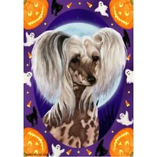 Halloween Garden Flag - Chinese Crested 120691