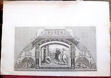 Eau forte, Loges du Vatican: Visite des anges, Ottaviani, Ecole italienne, XVIII