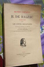 LES CONTES DROLATIQUES HONORE DE BALZAC  éd.CALMANN LEVY 1926