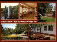 """Mittweida Sachsen color Mehrbild-AK neuwertig Gaststätte """"Schwanenschlösschen"""""""