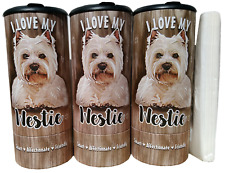 I Love my Westie(85016) Refillable Tissue Tube with 1 Refill package