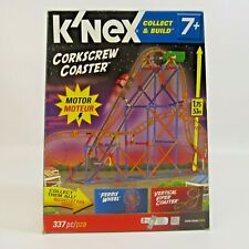 K'Nex Corkscrew Roller Coaster 337 Pieces Complete with Motor Collect & Build