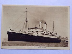 SHIPPING ORIENT LINE POSTCARD RMS ORONTES PHOTOGRAPH