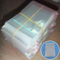 200Pcs Clear Plastic Bag Self Adhesive Seal Fit Jewelry Gift Bag Big Sale