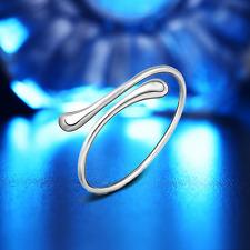 Drops Bangle Cuff Bracelet Jewelry Adjustable 925 Silver Plated Women Open Water