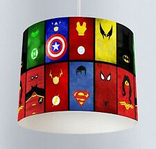 Avengers Superheroes (027) Boys Bedroom Drum Lampshade Light Shade