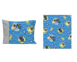 Disney Puppy Dog 2 Pcs Fitted Sheet and Pillowcase Toddler sheet   See Details