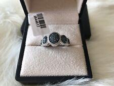 New Blue Diamond Ring 0.500 Ct Size P