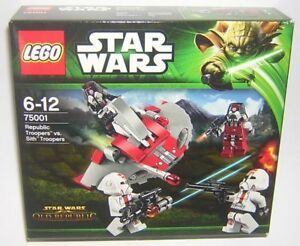 Star Wars Lego 75001 Republic Troopers vc Sith Troopers ( Old Republic )