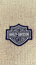 Harley Davidson Classic Silver Logo Sew-on Patch - Made in The USA
