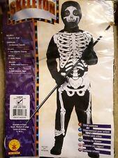 Boy/Girl Skeleton Jumpsuit, Costume Child Halloween Fancy Dress, Rubies - Lrg