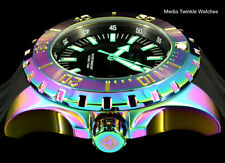 NEW Invicta 52mm Pro Diver Ocean Master Quartz Iridescent Case Black Strap Watch