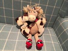 Rare jellycat âne jouet doux porter laineux manteau et rosette J396