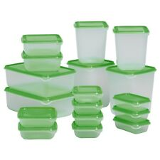 IKEA PRUTA BPA FREE FOOD CONTAINERS, SET OF 17 MICROWAVE,FREEZER,DISHWASHER SAFE