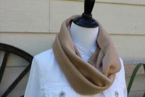 NEW Women's Fleece Infinity Tan Scarf