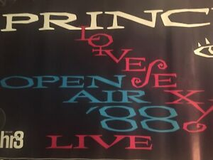 PRINCE LoveSexy Tour August 1988 German Concert Poster