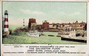 The City of Galveston, Texas TX, Before the Flood - Vintage Postcard