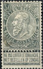 Belgium.  1897  Leopold II definitive 50c grey.  SG88.   Mint.