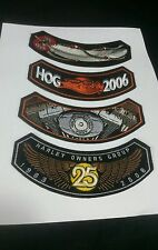 HOG HARLEY Owners Group Patches 2005 2006 2007 2008 25 yr anniversary