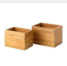 IKEA DRAGAN Organizzatore Bagno 2 Pezzi Set, Bambù, nuova con etichetta