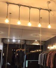 Industrial Conduit Ceiling Light Brass Pendant Lighting Hanging Lamp Holder