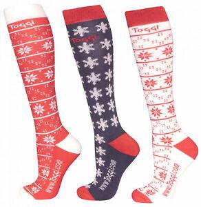 Toggi Leyton Snowflake Socks Red 4-8uk