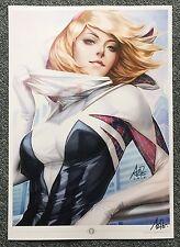 """Stanley Artgerm Lau """"Spider Gwen"""" Signed Premium Art Print"""