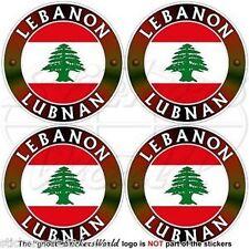 "LEBANON Middle East, Lebanese Cedar, LUBNAN Helmet Stickers-Decals 2"" (50mm) x4"